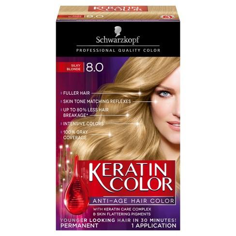 Schwarzkopf Keratin Color Anti Age Hair Color 80 Silky Blonde