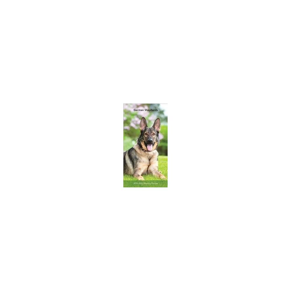 German Shepherds 2019-2020 Monthly Planner - (Paperback)