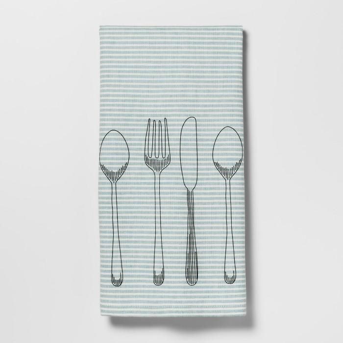Utensils Kitchen Towel Aqua - Threshold™ - image 1 of 1