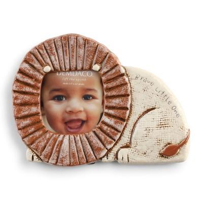 DEMDACO Noah's Ark Lion Head Frame 9 x 7 - Brown