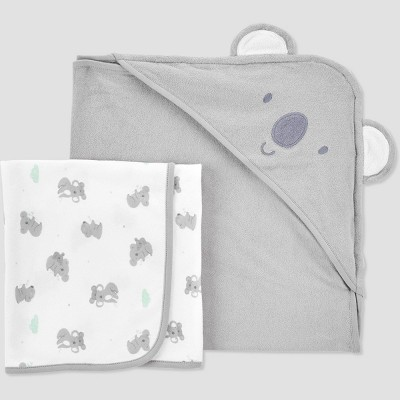 Baby Koala Hooded Bath Towel - Just One You® made by carter's Gray