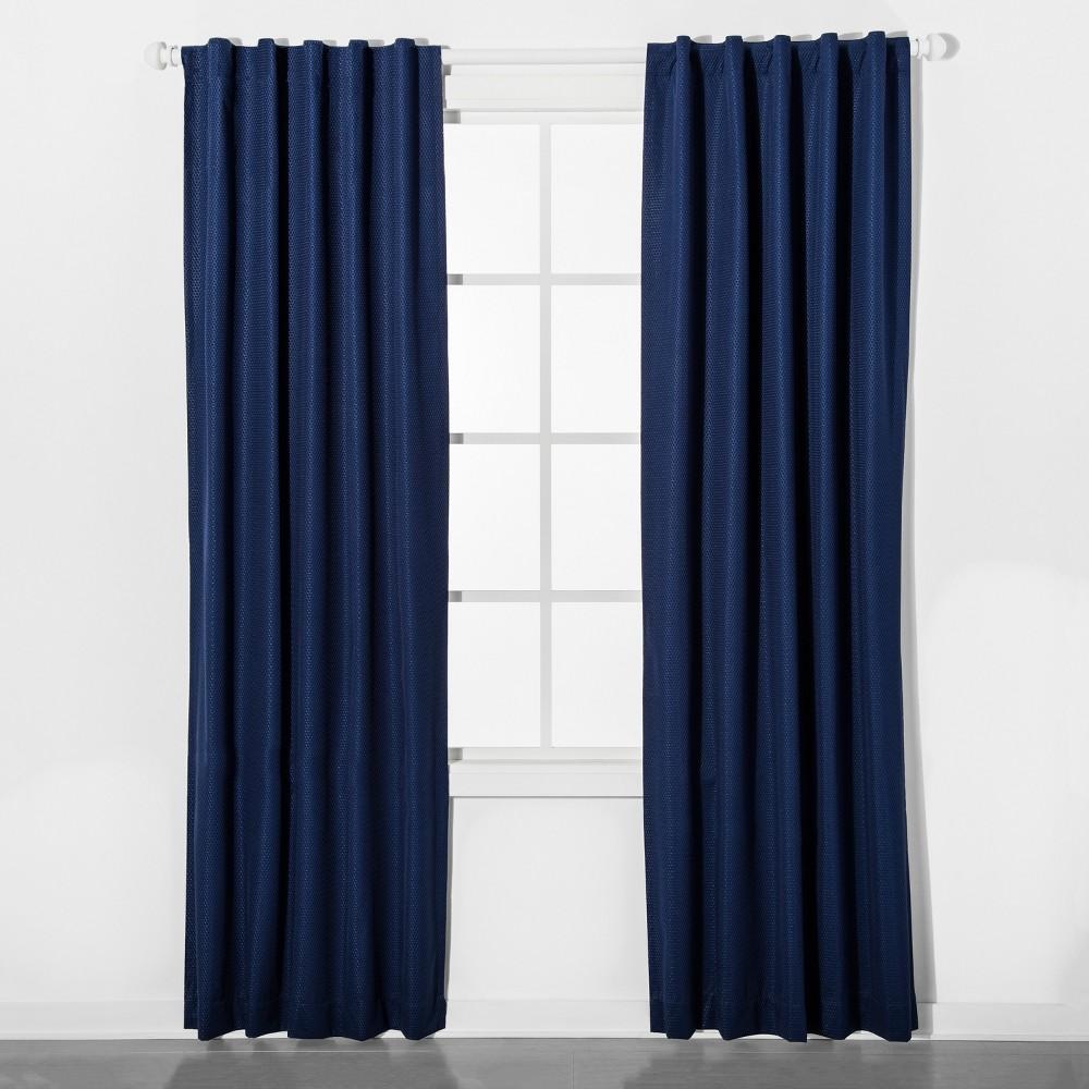 Mesh Blackout Curtain Panel Blue (42
