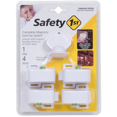 Safety 1st Complete Magnetic Locking System (4 Locks, 1 Key)