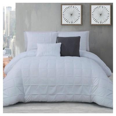 White Madison Comforter Set (Queen)5pc