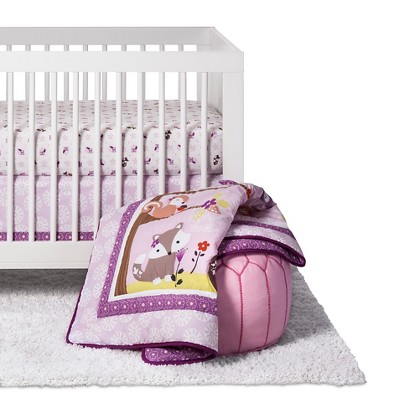 Bedtime Originals 3-Piece Crib Bedding Set - Lavender Woods