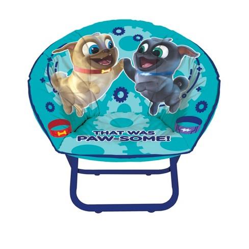 Stupendous Puppy Pal Kids Saucer Chair Blue Disney Forskolin Free Trial Chair Design Images Forskolin Free Trialorg
