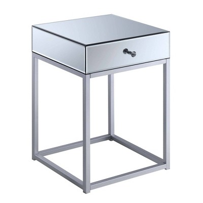Reflections End Table Mirror/Silver - Breighton Home