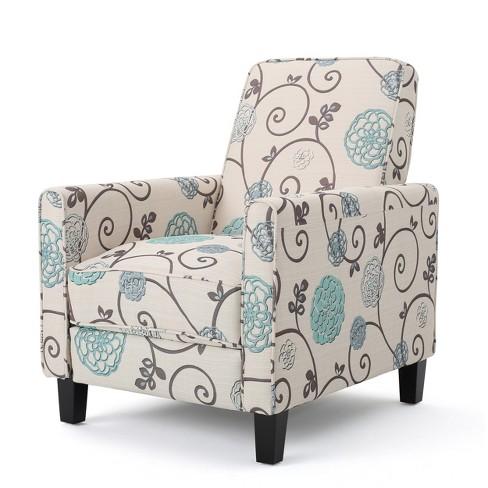 Super Darvis Fabric Recliner White Christopher Knight Home Customarchery Wood Chair Design Ideas Customarcherynet