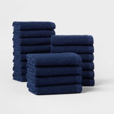 18pk Everyday Washcloth Bundle Navy - Room Essentials™