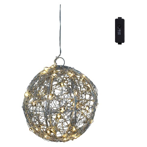 "2"" x 8' Wire Ball 40LED 3V Adapt - Silver - image 1 of 1"