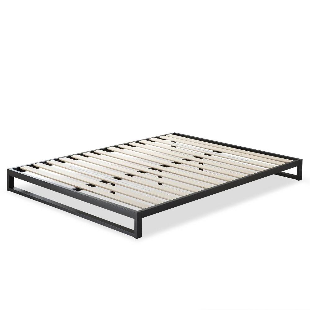 7 Queen Trisha Platform Bed Frame Black - Zinus