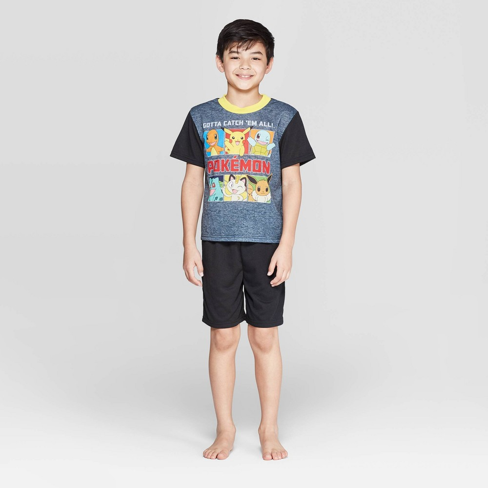 Image of Boys' Pokemon 2pc Pajama Set - Black 4, Boy's
