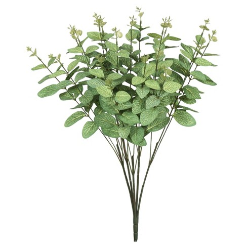 "Artificial Eucalyptus Bush (19"") Frosted Green - Vickerman - image 1 of 1"