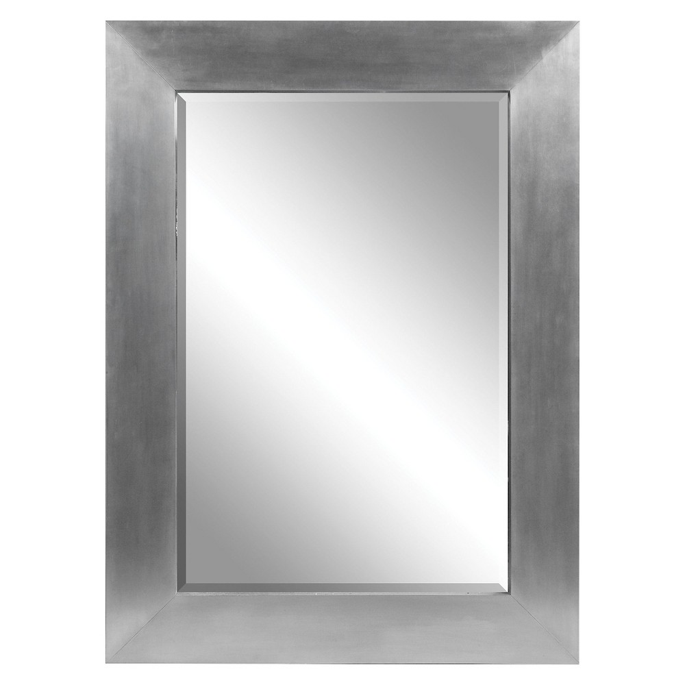 Rectangle Martel Contemporary Decorative Wall Mirror - Uttermost, Silver