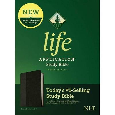 NLT Life Application Study Bible, Third Edition (Leatherlike, Black/Onyx) - (Leather Bound)