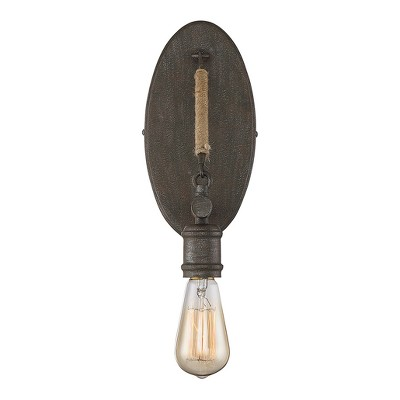 Amazing kitchen light fixture canprovide additional accents Vintage About This Item Elle Decor Wall Lights Rusty Nail With Rope Accents Sconce Zlite Target