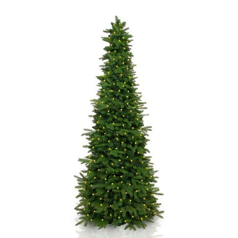 easy treezy 55ft slim led artificial led christmas tree natural