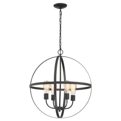 Ceiling Lights Manton Chandelier - Black - Lite Source