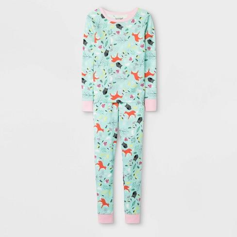 Girls' Pajama Set - Cat & Jack™ Green - image 1 of 1