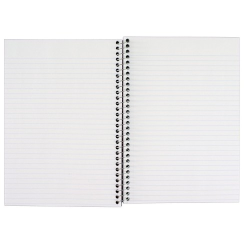 FiveStar 2 Subject College Ruled Solid Spiral Notebook