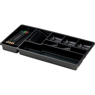 "Officemate Drawer Tray 9 Compartments 16""x9""x1-1/2"" Black 21312"