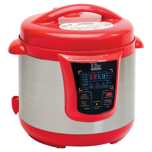 Elite Platinum 8 Qt  Electric Pressure Cooker - Red : Target