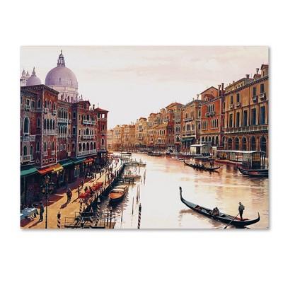 "36"" x 48"" Venice by Hava - Trademark Fine Art"