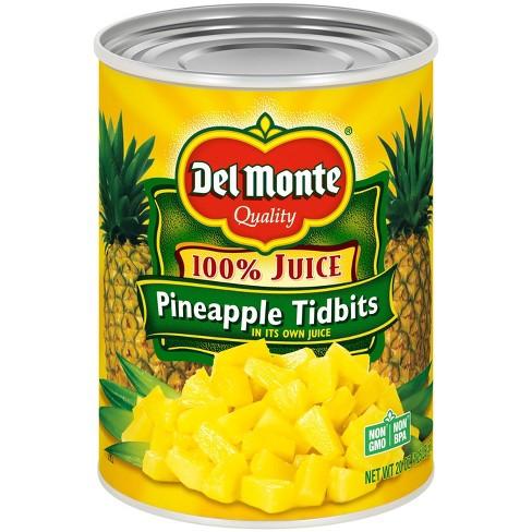 Del Monte Pineapple Tidbits in 100% Juice 20oz - image 1 of 3