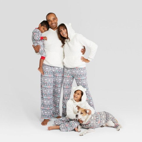 e0478cc49 Baby Holiday Fuzzy Bear Fair Isle Footed Sleeper -...   Target