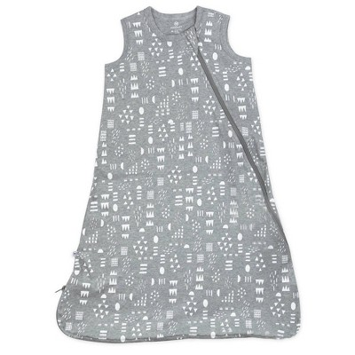 Honest Baby Organic Cotton Interlock Wearable Blanket - Pattern Play Heather M