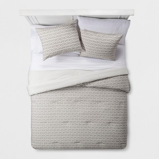 Cream Clipped Geometric Comforter Set (King) - Project 62™ + Nate Berkus™
