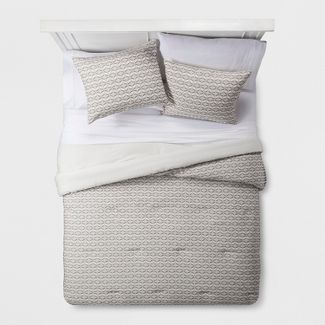 Cream Clipped Geometric Comforter Set (Full/Queen) - Project 62™ + Nate Berkus™