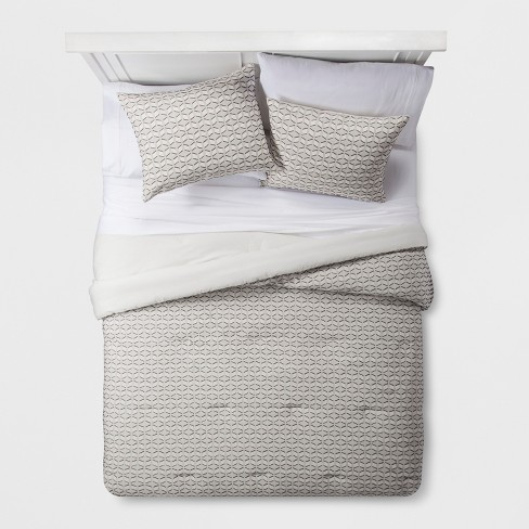 Cream Clipped Geometric Comforter Set - Project 62™ + Nate Berkus™ - image 1 of 4