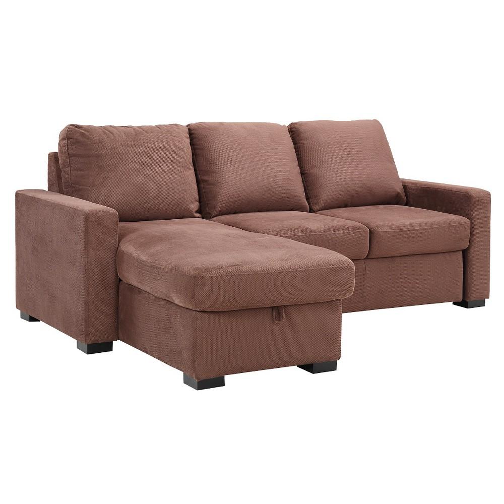Baltimore Convertible Sofa Brown - Serta
