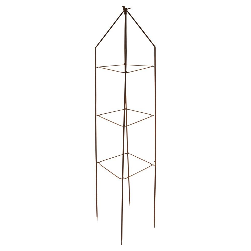 Foldable Bird Plant Tower Square Metal - Light Gray - Esschert Design, Light Grey