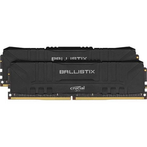 Crucial Ballistix 64GB DDR4 SDRAM Memory Module - For Motherboard, Desktop PC - 64 GB (2 x 32 GB) - DDR4-3200/PC4-25600 - CL16 - 1.35 V - Non-ECC - image 1 of 2
