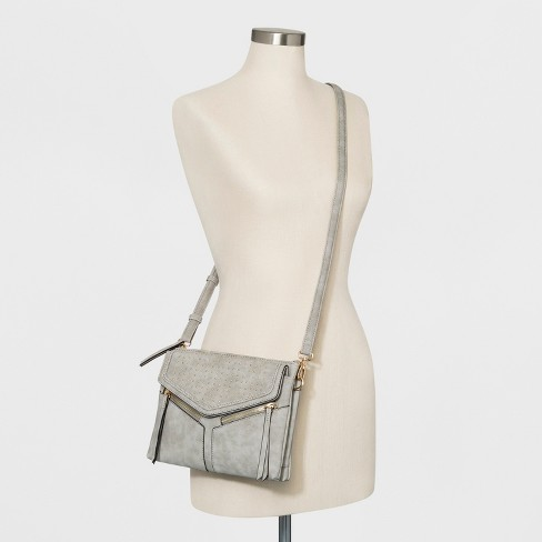 a5f70a9c7043 VR NYC Braided Studded Leanna Triple Crossbody Bag - Gray   Target