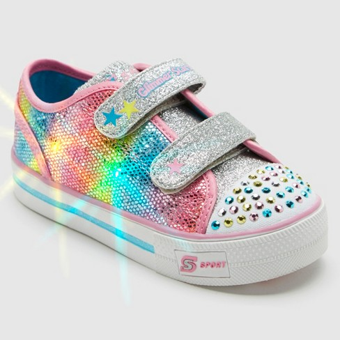 Toddler Girls' S Sport By Skechers Skyla Light-Up Sneakers - Pink - image 1 of 6