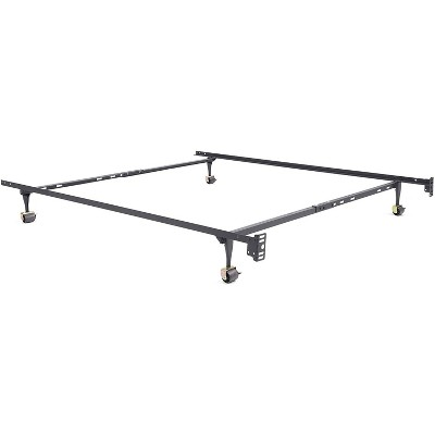 Classic Brands Hercules Standard 75-Inch Long Adjustable Metal Bed Frame with Wheels, Fits Twin, Twin XL, Full, and Queen-Sized Mattresses, Black