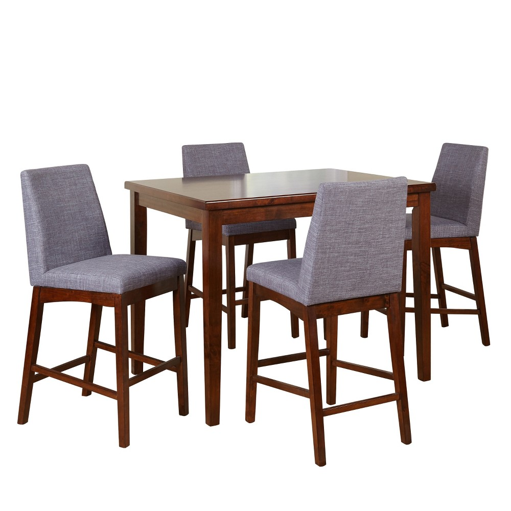 5pc Century Counter Height Set - Espresso - Buylateral, Espresso Brown