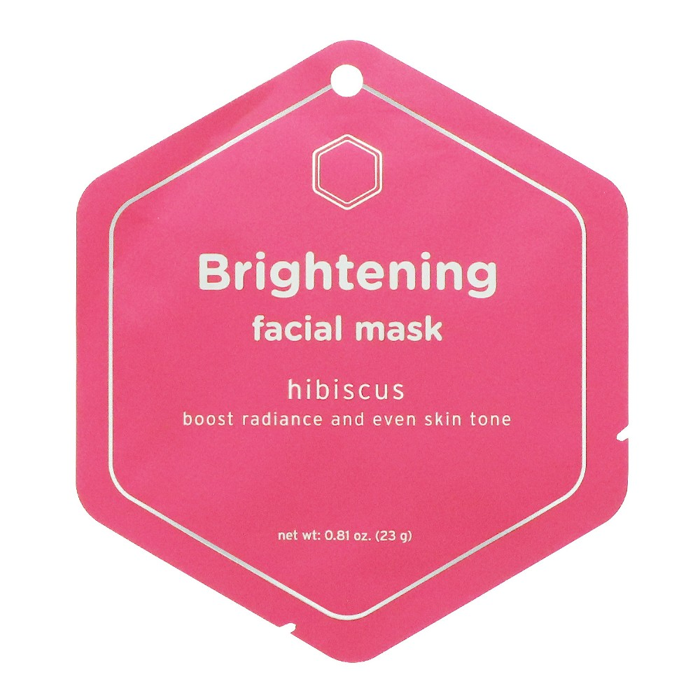 My Spa Life Hibiscus Brightening Facial Mask - 0.81oz