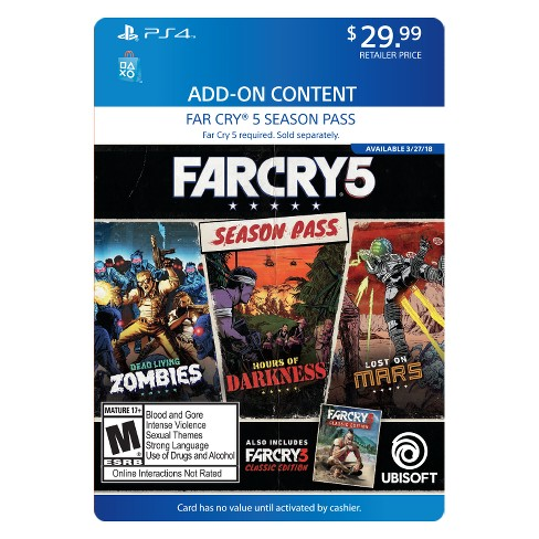 far cry 5 ps4 gold edition content