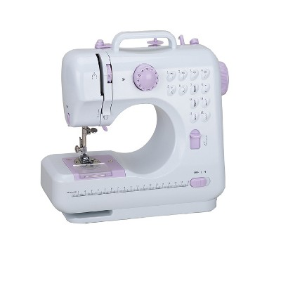 Dartwood Portable and Multifunctional Household Sewing Machine with 10 Stitching Modes, Battery Powered or AC Outlet Powered (Batteries Not Included)