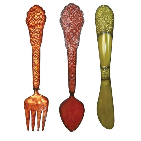 wall decor-spoon, fork & knife - home source : target