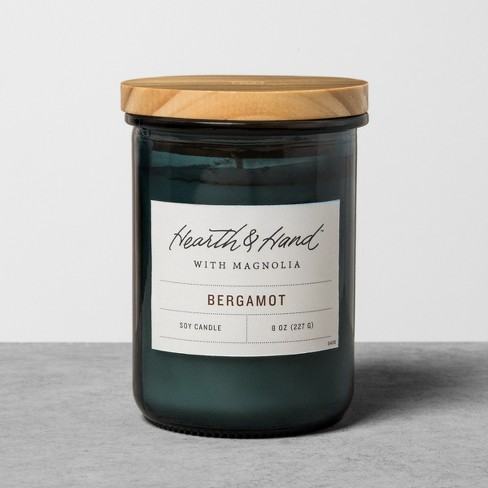8oz Lidded Jar Container Candle - Bergamot - Hearth & Hand™ with Magnolia - image 1 of 2