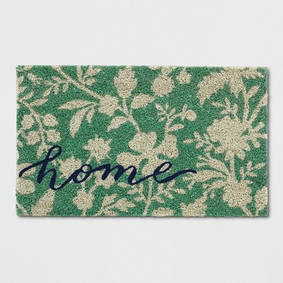 Green Floral Doormat 1'6 X2'6  - Threshold™