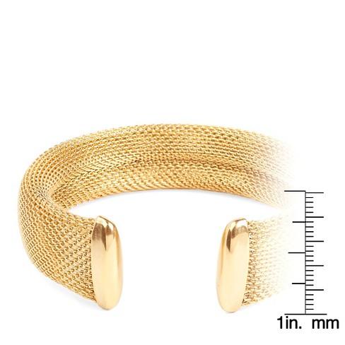 cfa7c289ca2a6 West Coast Jewelry Goldtone Stainless Steel Mesh Cuff Bracelet