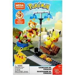 Mega Construx Pokemon Chimchar vs Pikachu Battle Pack