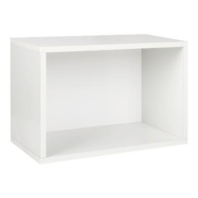 Way Basics Eco Stackable Large Rectangle Shelf and Shoe Organizer White