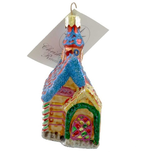 Christopher Radko Petite Gingerbread Chapel Ornament Religious Christmas - image 1 of 2